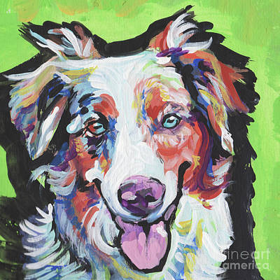 Cattle Dog Painting - Happy Aussie by Lea