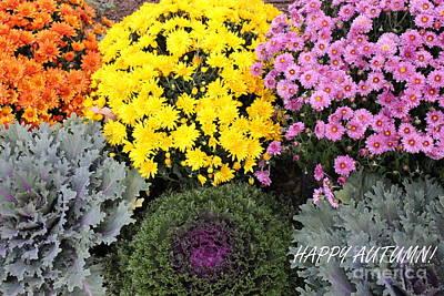 Photograph - Happy Autumn - A Greeting by Dora Sofia Caputo Photographic Design and Fine Art