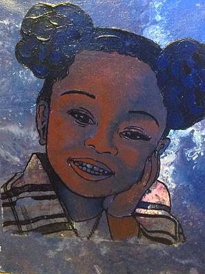 Painting - Happy Baby Girl  by Karen Buford
