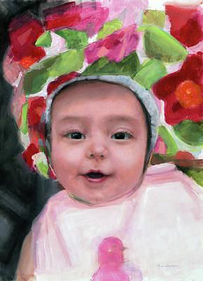 Painting - Happy Baby by Melissa Herrin