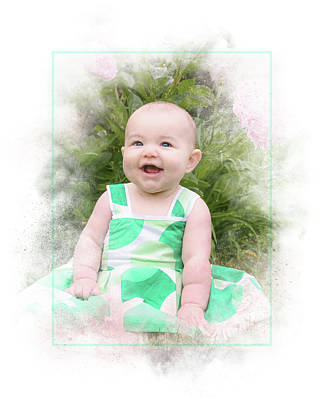 Photograph - Happy Baby by Ronald Hoehn
