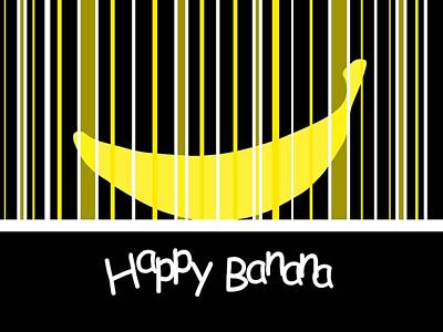 Happy Banana Art Print