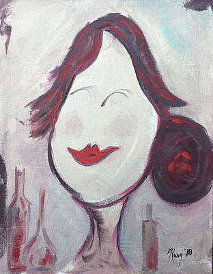 Portraits Painting - Happy Bartender  by Roxy Rich