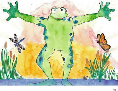Painting - Happy Being Green by Debi Hammond