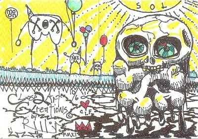 Neo Expressionism Drawing - Happy Belated Birthday by Robert Wolverton Jr
