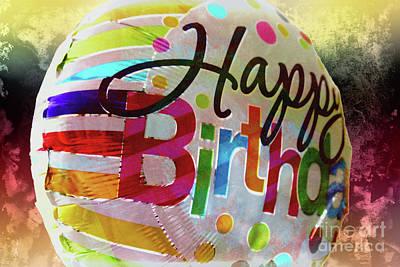 Digital Art - Happy Birthday 1 by Gina Geldbach-Hall