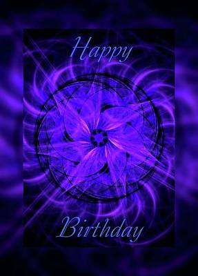 Digital Art - Happy Birthday Card 2 by Angie Tirado