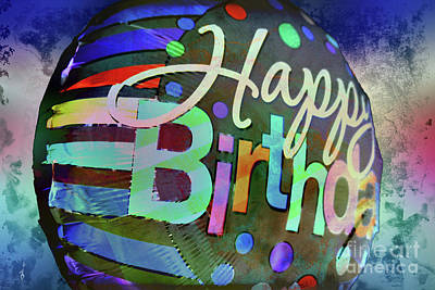 Digital Art - Happy Birthday 2 by Gina Geldbach-Hall