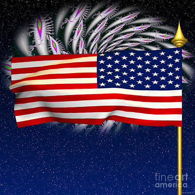 Fireworks Photograph - Happy Birthday America by Ganesh Barad