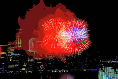 Photograph - Happy Birthday America - Jersey City 2017 # 2 by Allen Beatty