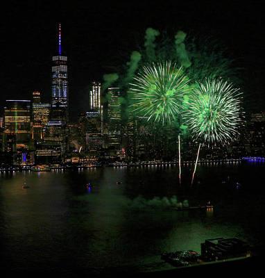 Photograph - Happy Birthday America - Jersey City 2017 by Allen Beatty