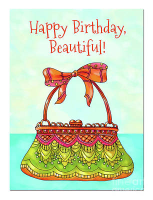 Vale Mixed Media - Happy Birthday Beautiful by Pam Vale