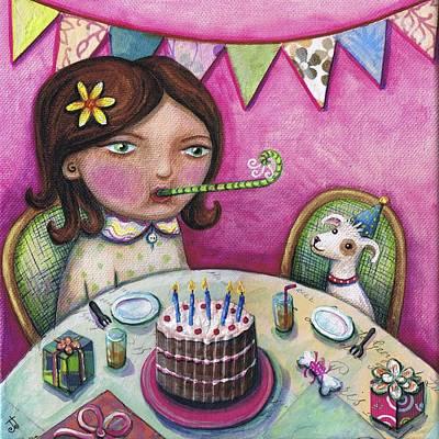 Happy Birthday Boo Original by Joanna Dover