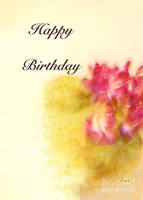 Painting - Happy Birthday Card # 2 By Claudia Ellis by Claudia Ellis