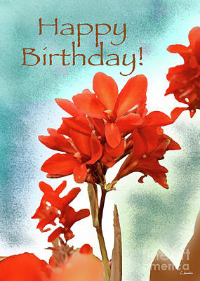 Digital Art - Happy Birthday Card #01 By Claudia Ellis by Claudia Ellis