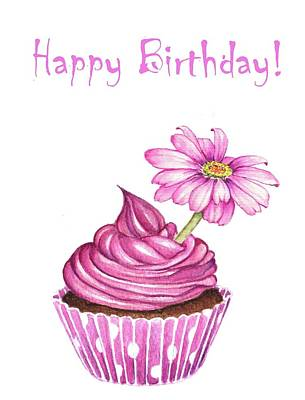 Mixed Media - Happy Birthday Cupcake by Heidi Kriel