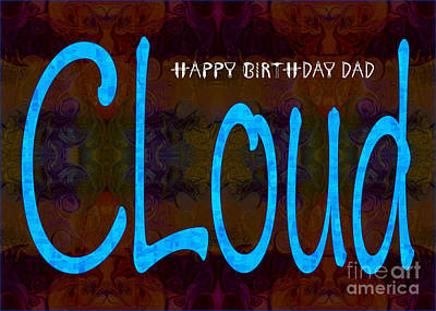 Drawing - Happy Birthday Dad Abstract Greeting Card Artwork By Omaste Witk by Omaste Witkowski