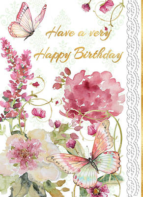 Painting - Happy Birthday Greeting Card by Jean Plout
