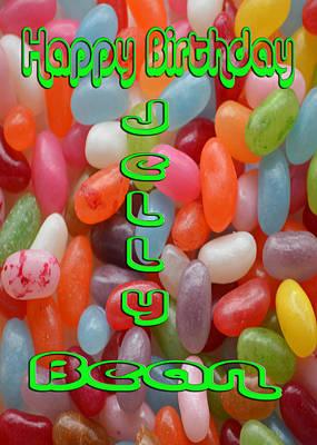 Martinspixs Photograph - Happy Birthday Jelly Bean  by Martin Matthews