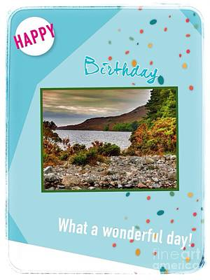 Mixed Media - Happy Birthday Lakes Picture by Joan-Violet Stretch