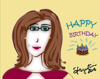 Happy Birthday - Laura Version Print by Sharon Augustin