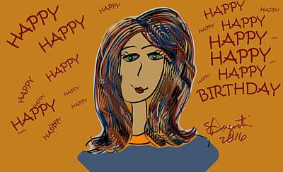 Happy Birthday - Lorena Version Print by Sharon Augustin