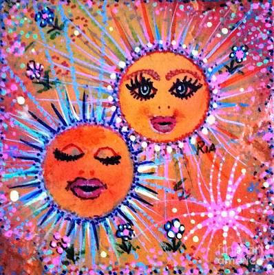 Mixed Media Royalty Free Images - Happy Birthday Royalty-Free Image by Maria Pancheri