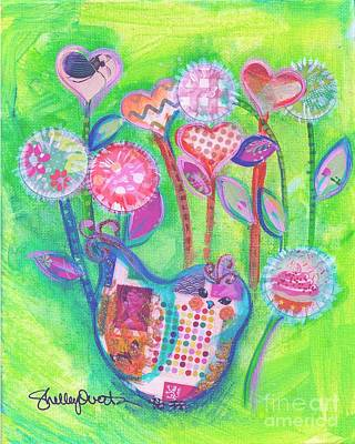 Painting - Happy Birthday Mindy Birdy by Shelley Overton