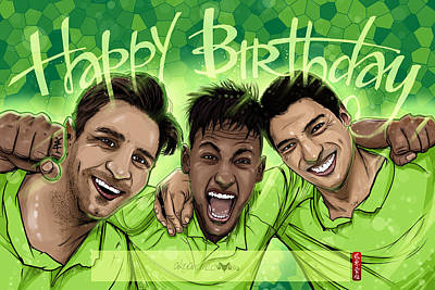 Soccer Digital Art - Happy Birthday Msn by Akyanyme