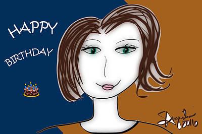 Happy Birthday - Nita Version Print by Sharon Augustin