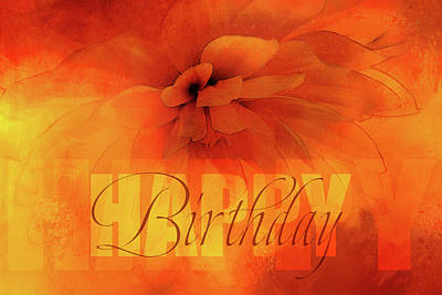 Celebrating Mixed Media - Happy Birthday Orange by Terry Davis