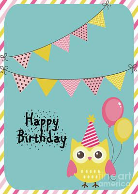 Photograph - Happy Birthday Owl by Pam  Holdsworth