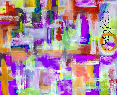 Digital Art - Happy Birthday Paper Abstract Painting by Lisa Kaiser