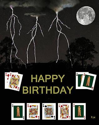 Norway Mixed Media - Happy Birthday Poker Cards by Eric Kempson