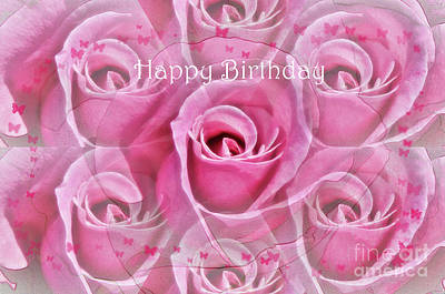 Photograph - Happy Birthday Rose Card by Debby Pueschel