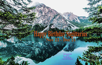 Photograph - Happy Birthday Sagittarius by Beauty For God