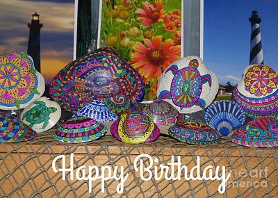 Photograph - Happy Birthday Shells by Jean Wright