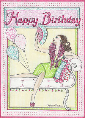 Mixed Media - Happy Birthday by Stephanie Hessler