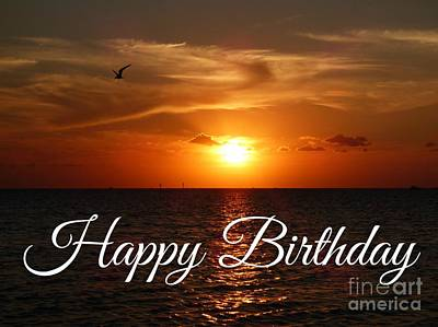 Photograph - Happy Birthday Sunset by Jean Wright