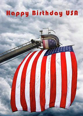 Photograph - Happy Birthday Usa Flag by Gary Slawsky
