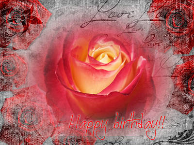 Grettings Digital Art - Happy Birthday by Vesna Martinjak