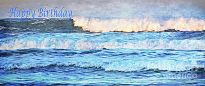 Photograph - Happy Birthday Wave by Debby Pueschel