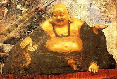 Happy Buddha Art Print by Fawn Waterfield