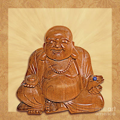 Photograph - Happy Buddha Joyful Laughing by Gabriele Pomykaj