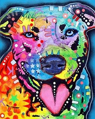 Pitty Painting - Happy Bull by Dean Russo