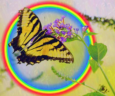 Photograph - Butterfly Rainbow by Carol F Austin