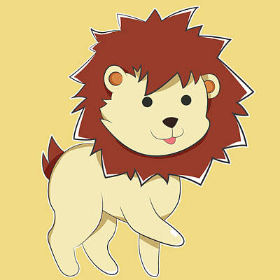 Happy Cartoon Baby Lion Original
