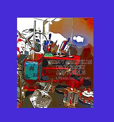 Digital Art - Happy Chanukah by Gail Butters Cohen