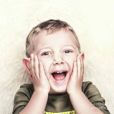 Photograph - Happy Child Portrait by Gualtiero Boffi