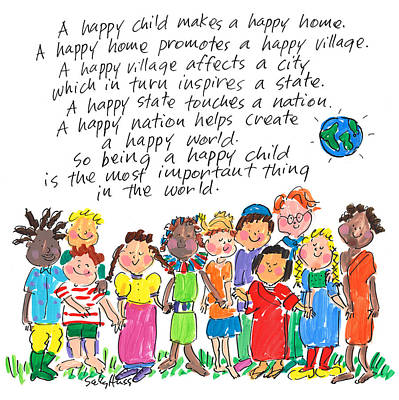 Wall Art - Painting - Happy Child by Sally Huss